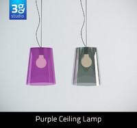 purple ceiling lamp 3d model