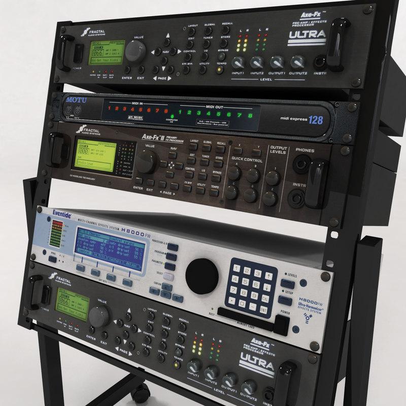 rack music studios 3d max