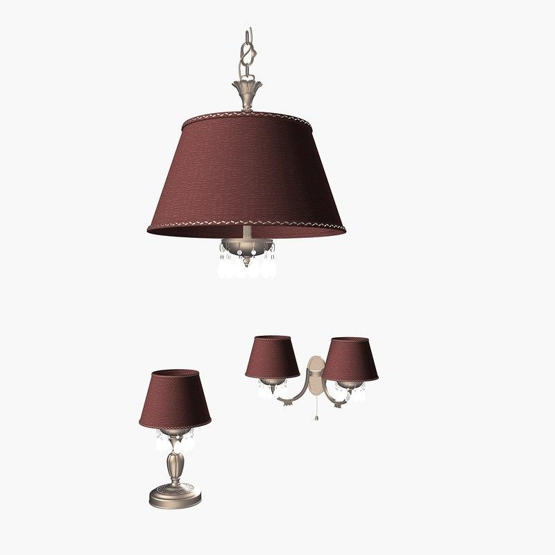 3d model reccogni lamp