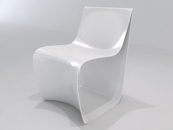 3d model sign chair
