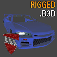 Skyline R34 for Blitz3D