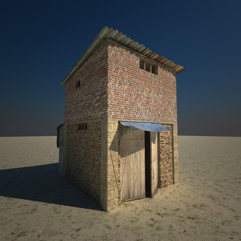 small slum building 3d 3ds