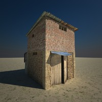 small slum building 3d 3ds