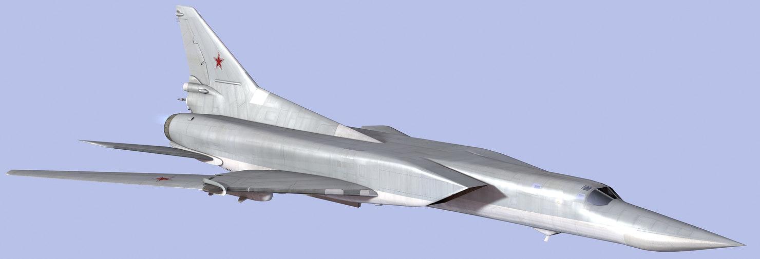 3d model russian tu-22m3 bomber