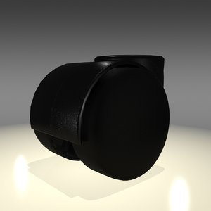 3d model desk chair wheel caster