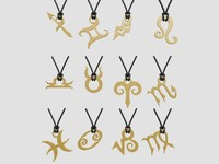 3d model zodiac pendants