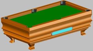 billard 3d model