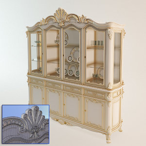 3d model baroque buffet angelo cappellini