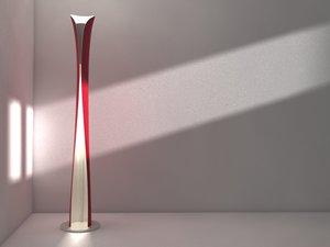 3d floor design lamp artemide model