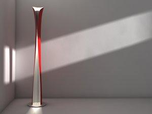 3d model floor design lamp artemide