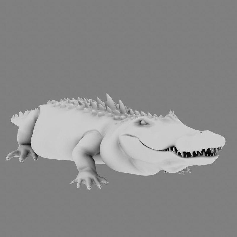 3d alligator gator model