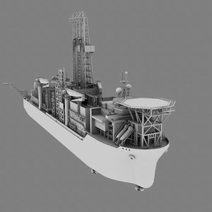 drilling vessel helipad 3d model