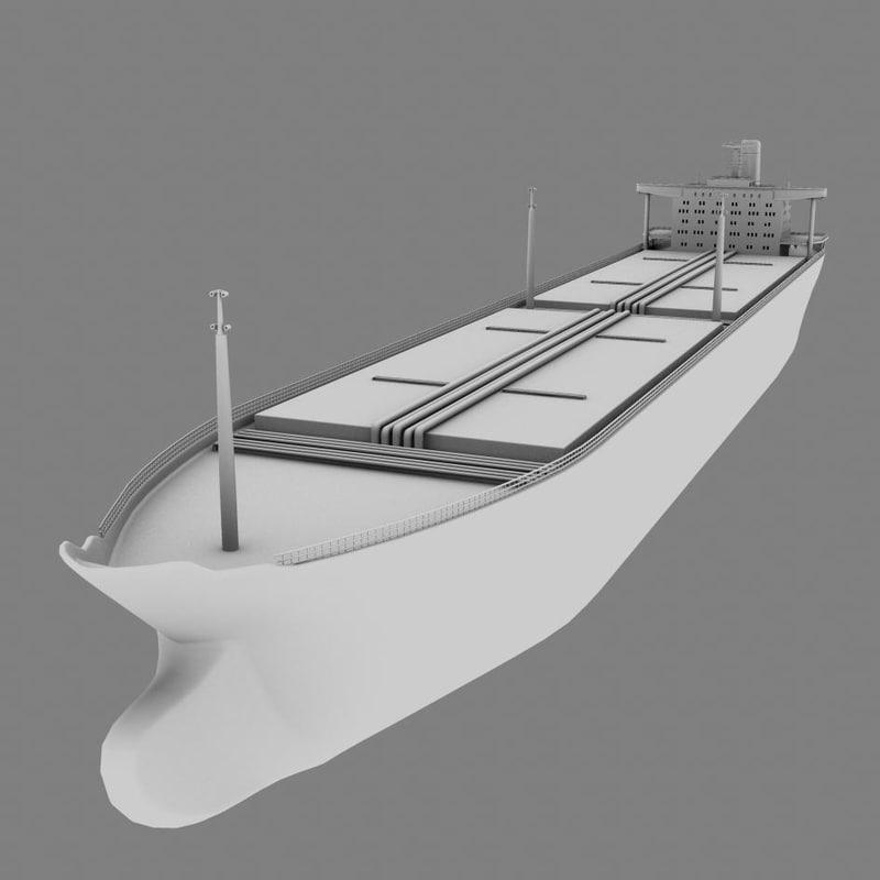 3d crude carrier ship
