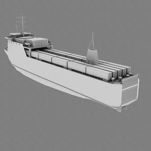cargo carrier car obj