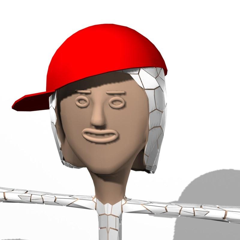 3d rockman character model