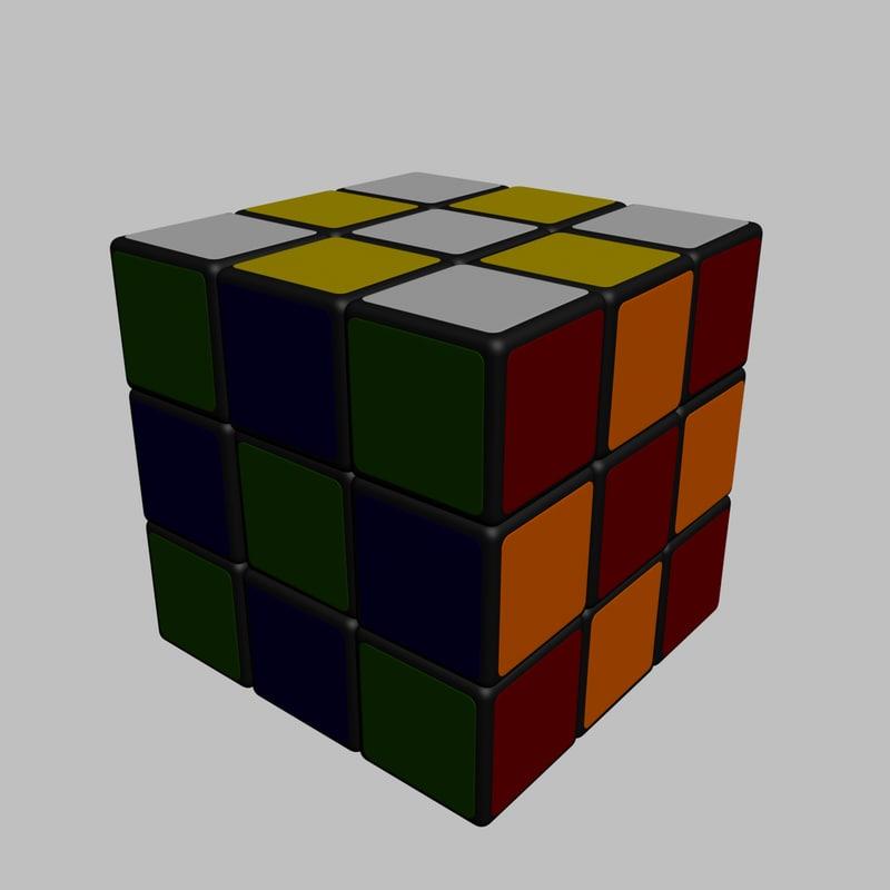 3d realistic rubik s cube