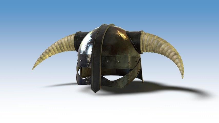 dragonborn helmet 3d model