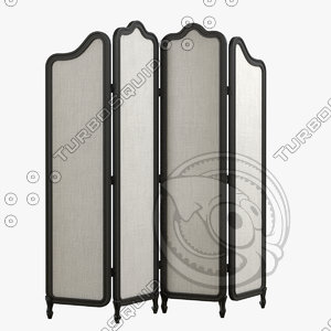 roomdivider eugenie black 3d model