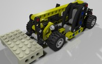 lego mini telehandler set 3d 3ds