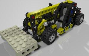 lego mini telehandler set 3d 3ds