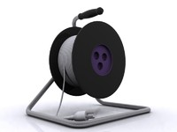 3d extension reel cable model