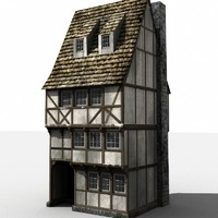Medieval townhouse (lowpoly)