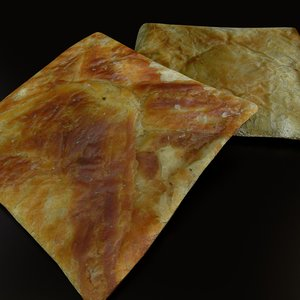 3d food khachapuri model