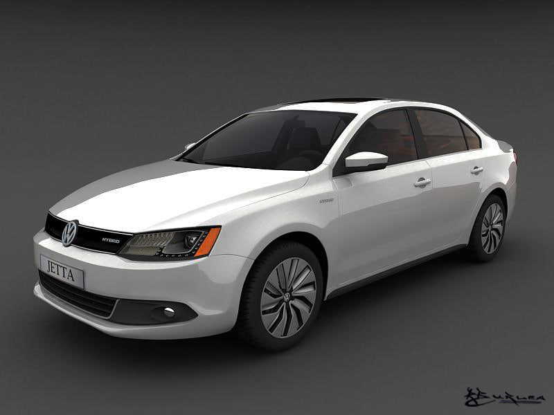 volkswagen jetta hybrid 2013 3d model
