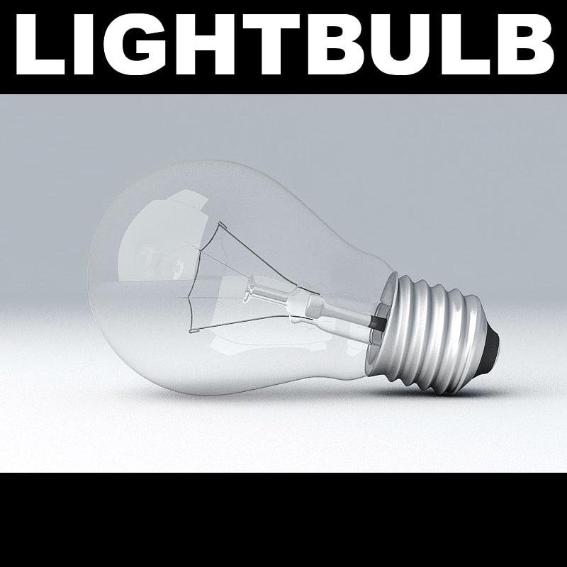 3d model lightbulb light bulb