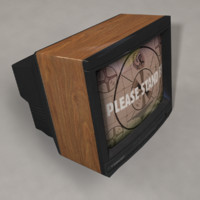 Old Tube Television and VHS Tape