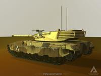 3d model merkava battle tank