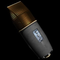 3d condenser microphone model