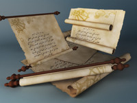 Parchment J Rigged & Animated