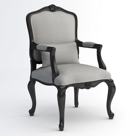 louis xv armchair 3d max