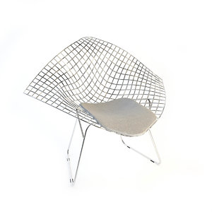 knoll bertoia diamond chair 3d max