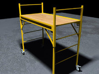 yellow baker scaffolding 3d model