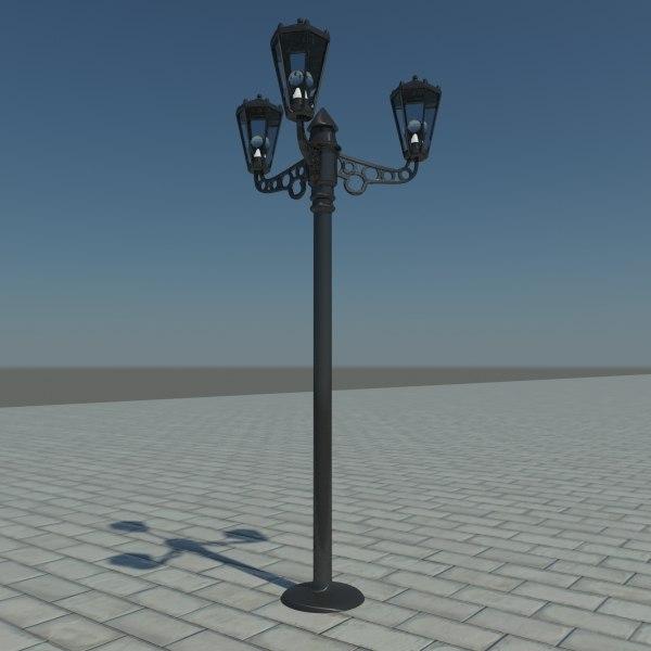 street light lamp 3d max