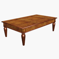 burl coffee table 3d 3ds