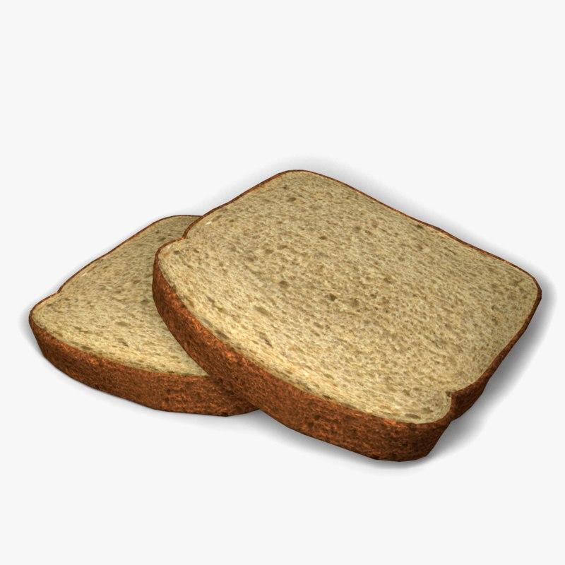 3d slices bread model