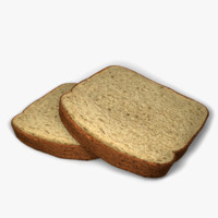 3d slices bread model