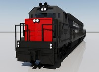 3d model super train diesel engine
