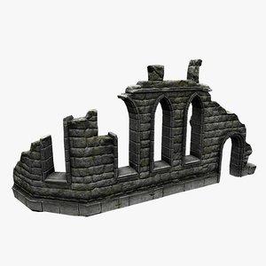 3d model old ruin