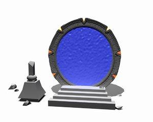 stargate gate star 3d model