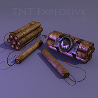 3d model explosive pack