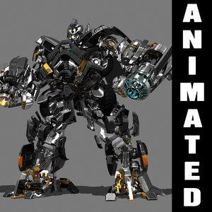 3d transformer animation truck autobot