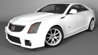 2011 cadillac cts-v coupe 3d c4d