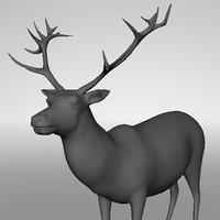 3d stag model