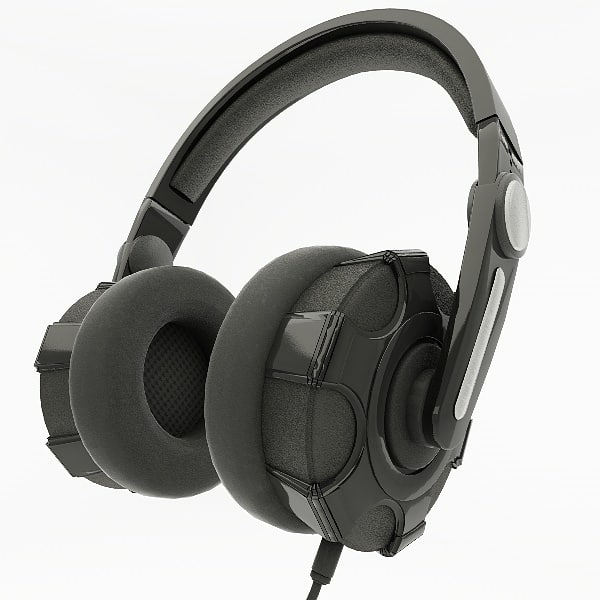 3d max headphones phone