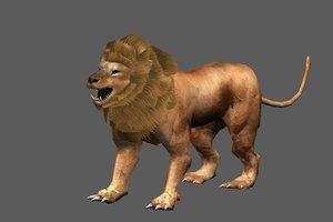 blender lion plane hair