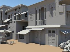 3d model scene slum